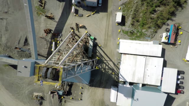 aerial view of mine and mineshaft - mine shaft stock videos and b-roll footage