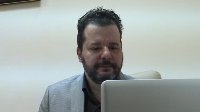 stockvideo's en b-roll-footage met images of mounir baatour lawyer and president of shams an association for the rights of homosexuals in tunisia running for the 2019 presidential... - presidentskandidaat