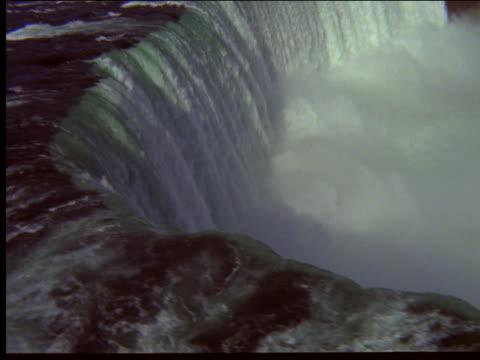 aerial of niagara falls - naturwunder stock-videos und b-roll-filmmaterial