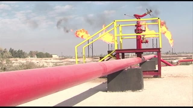 of oil installations in iraq's basra - basra stock videos & royalty-free footage