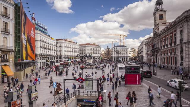 ZO TL of Plaza de la Puerta del Sol in Madrid, Spain.
