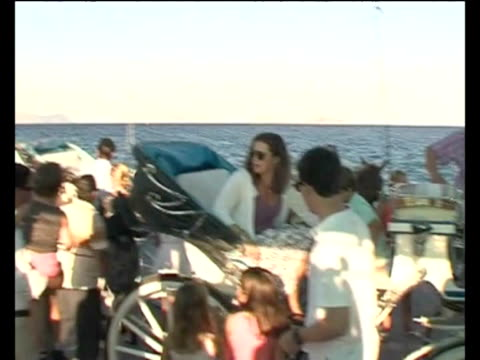 of prince nikolaos andtatiana blatnik on the greek island of spetses greek royal family at wedding rehearsal in greece on august 23 2010 in spetses... - rehearsal stock videos and b-roll footage