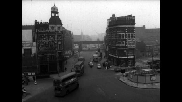 has of roads and traffic in elephant and castle, london; 1960 - 1960 stock videos & royalty-free footage