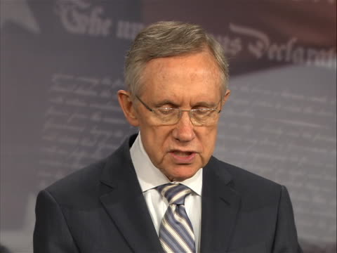 sot of senate majority leader harry reid warning that time was running out for politicians as the deadline for an economic default for the united... - august stock videos & royalty-free footage