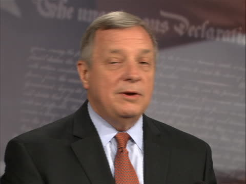 sot of senator richard durbin saying that the proposed democratic solution for the 2011 debt crisis included measures that republicans supported this... - august stock videos & royalty-free footage