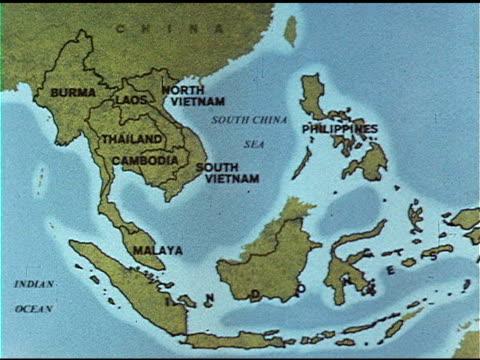 Burma Laos Thailand Cambodia North South Vietnam South China