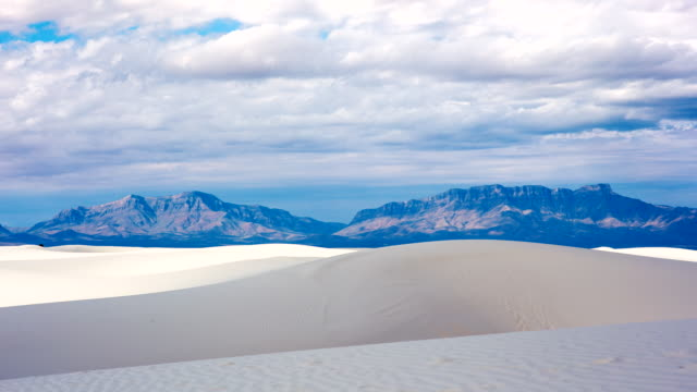 tl of storm clouds over white sands national monument - new mexico stock videos & royalty-free footage