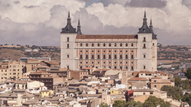 zo tl of the alcazar and city of toledo, spain. - philip ii of spain stock videos and b-roll footage