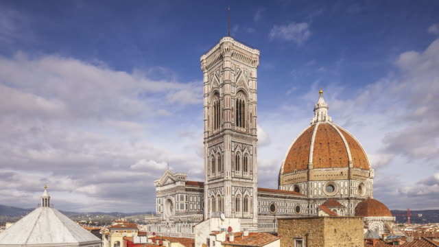 zo tl of the basilica di santa maria del fiore otherwise known as the duomo in florence, tuscany, italy. - kuppeldach oder kuppel stock-videos und b-roll-filmmaterial