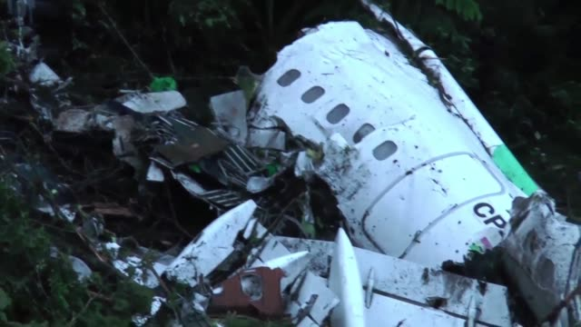 images of the chapecoense airplane accident and those who survived the crash - brasile meridionale video stock e b–roll
