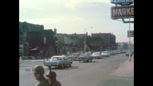 of the destruction of 12th street - 1967 bildbanksvideor och videomaterial från bakom kulisserna