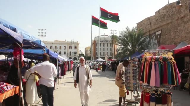 stockvideo's en b-roll-footage met stockshots of the libyan capital tripoli on the eve of international crisis talks in italy's palermo - libië