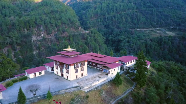 as of the tashiyangtse old dzong near chorten kora, bhutan - bhutan stock videos & royalty-free footage