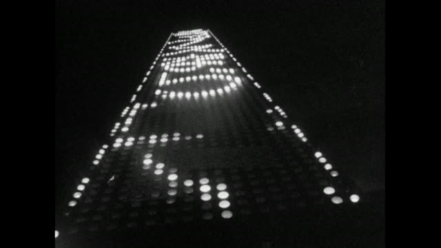 stockvideo's en b-roll-footage met las of vertical illuminated sign with scrolling japanese text; 1966 - scrollen