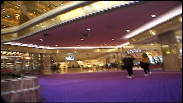 POV Of Walking Through Trump Taj Mahal Casino in Atlantic City NJ
