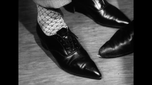 has of winklepicker shoes tapping to music; 1960 - limb body part stock videos & royalty-free footage