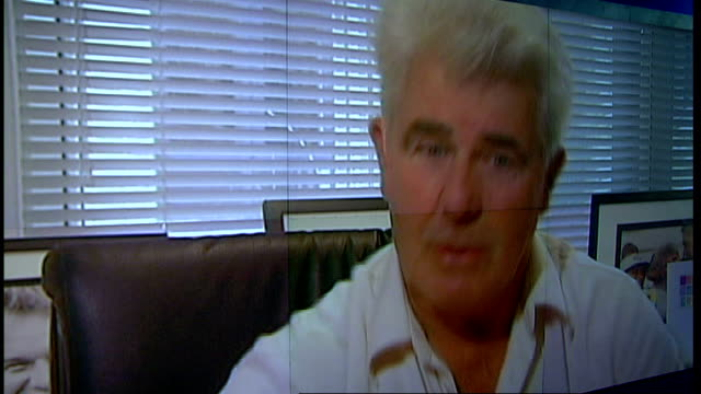 ofcom orders channel 4 to apologise for 'big brother' mistakes graphicised shot max clifford interview sot it is of great concern to them / they are... - at the edge of stock videos and b-roll footage