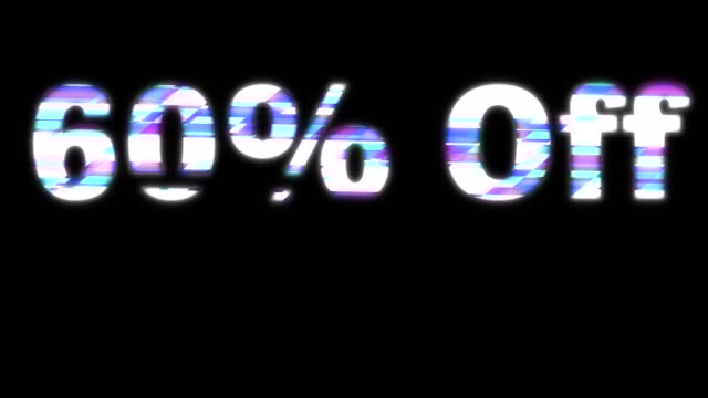 60% Off Glitchy Words