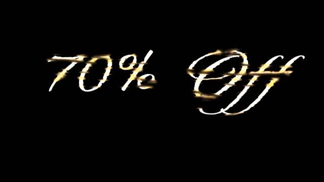 vídeos de stock, filmes e b-roll de 70% de desconto em ouro fundido - sc47