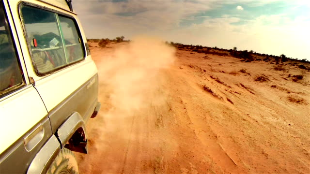 off road in desert in africa. - off road car stock videos and b-roll footage