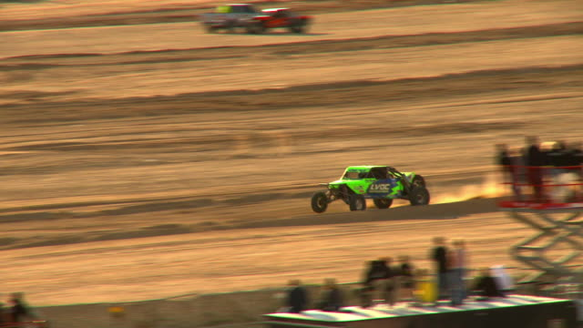 ws, ts, off road racing vehicle riding on sandy track, laughlin, nevada, usa - off road racing stock videos and b-roll footage