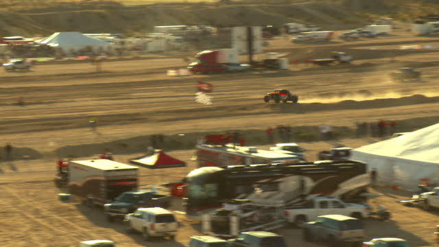 ws, ts, off road racing vehicle riding on sandy track, laughlin, nevada, usa - off road racing stock videos & royalty-free footage