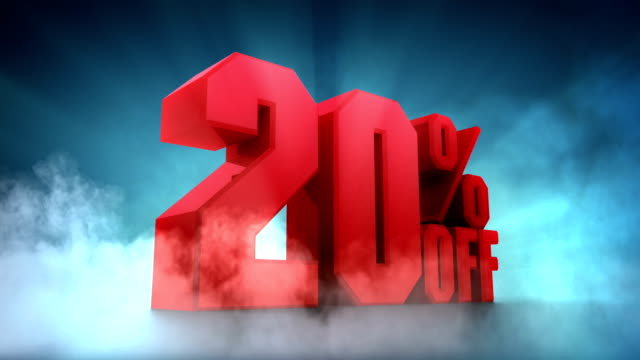 10%, 20%, 30%, 40%, 50% off - sale stock videos & royalty-free footage