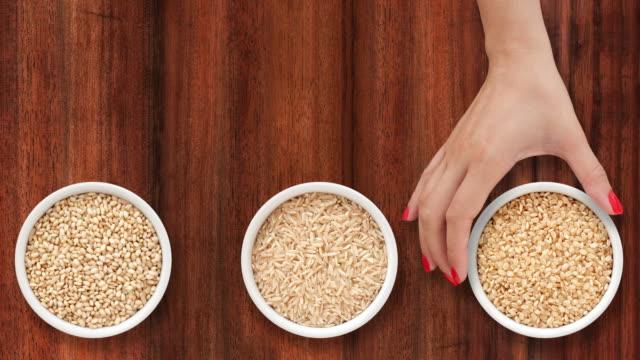 ブラウン rices を - 玄米点の映像素材/bロール