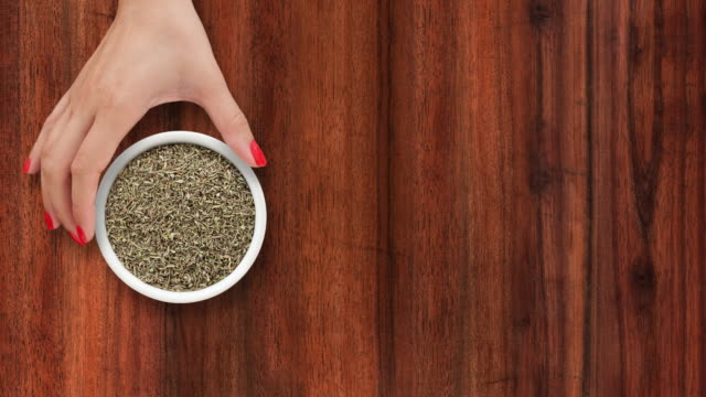 Offering dried thyme