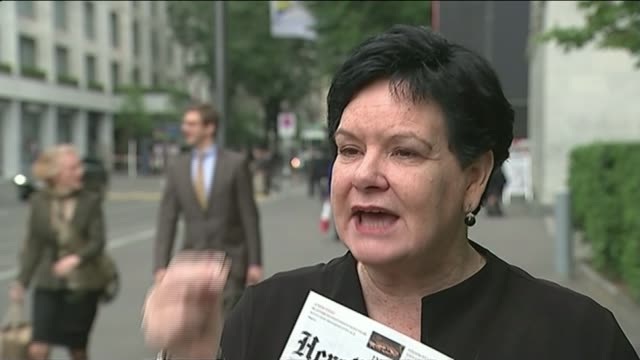 officals arrested on corruption charges; belgium: brussels: sharan burrow interview sot - international team soccer stock videos & royalty-free footage
