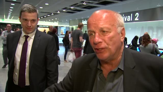 fifa officals arrested on corruption charges greg dyke interview switzerland zurich int greg dyke along through airport greg dyke interview sot dyke... - greg dyke stock videos and b-roll footage