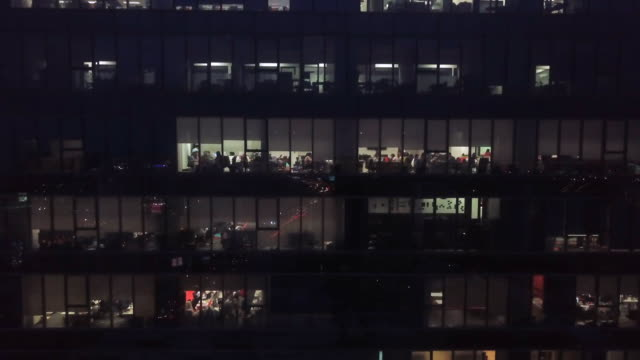 office building at night - working overtime stock videos & royalty-free footage