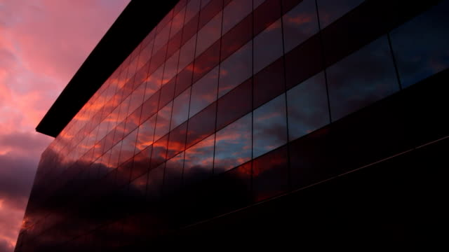 Office building at sunset