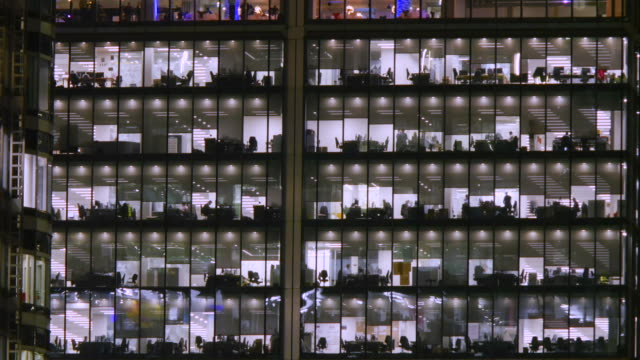 office building close-up timelapse.4k. - bürogebäude stock-videos und b-roll-filmmaterial