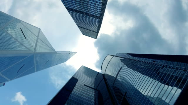 office building from below - directly below stock videos & royalty-free footage