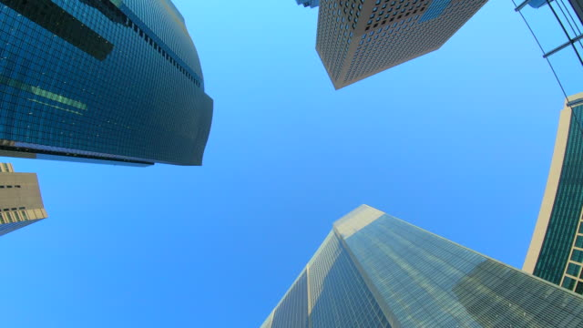 下からオフィスビル - 事業戦略点の映像素材/bロール