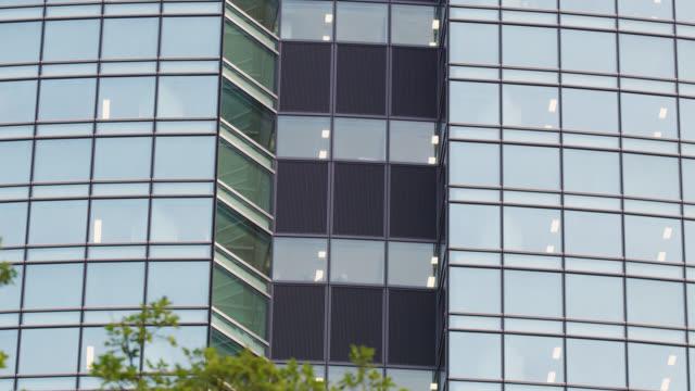 ms office building windows in shiodome / tokyo, tokyo-to, japan - establishing shot stock videos & royalty-free footage
