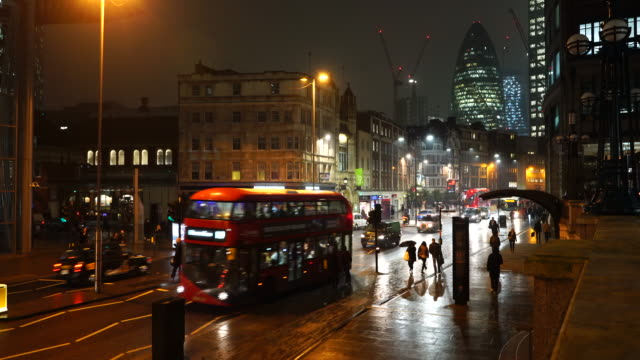 office buildings and city streets of london. - rain stock videos & royalty-free footage