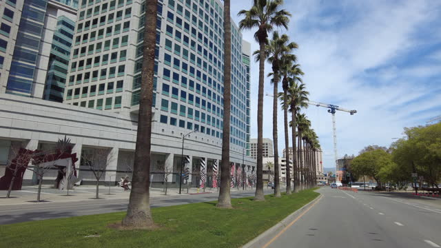 office buildings and palm tree - northern california stock videos & royalty-free footage