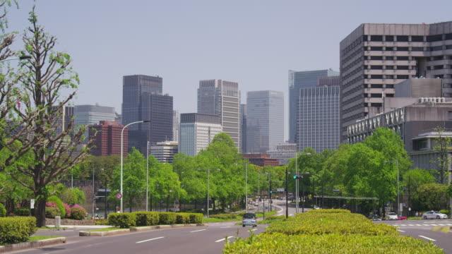 office buildings at marunouchi, tokyo, japan - marunouchi stock videos & royalty-free footage