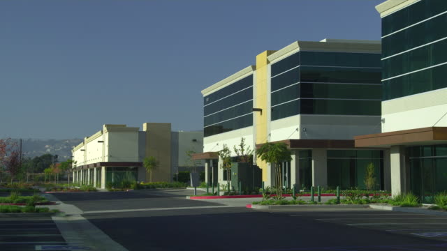ws pan office buildings, camarillo, california, usa - camarillo stock videos & royalty-free footage