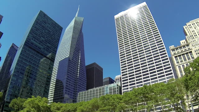 Office buildings in Bryant Park, New York