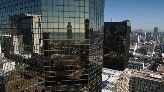 office buildings in downtown san diego - aerial - san diego stock videos & royalty-free footage