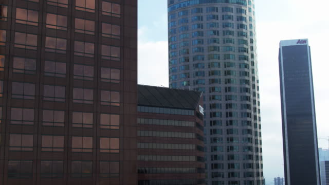 office buildings in la - drone shot - us bank tower stock videos and b-roll footage