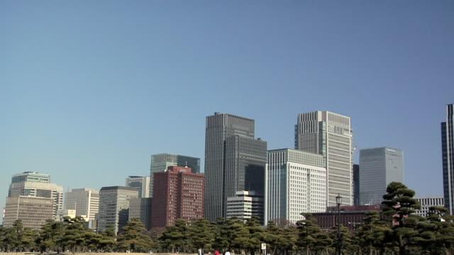 ws office buildings in hibiya district / tokyo, japan - オフィスビル点の映像素材/bロール