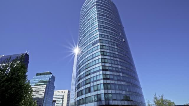 kontorsbyggnader i santiago de chile financial district - fönsterrad bildbanksvideor och videomaterial från bakom kulisserna