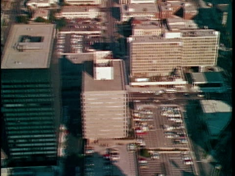 1970 aerial montage office buildings, los angeles, california, usa, audio - 1970 stock videos & royalty-free footage