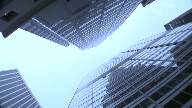hd: office buildings - spinning point of view stock videos & royalty-free footage