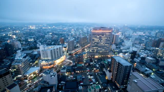 office bulidings cityscape in kanazawa, japan - kanazawa stock videos and b-roll footage