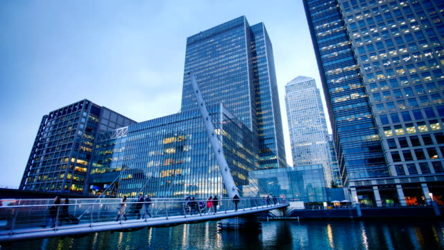 Office business byggnad i London, England - timelapse